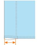 パイフラの袋縫い加工図